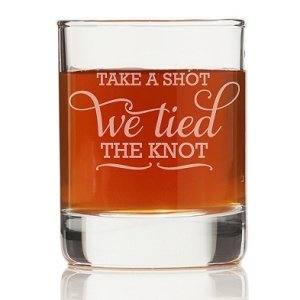 Take A Shot We Tied The Knot Shot Glass (Set of 4) image