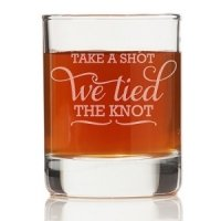 Take A Shot We Tied The Knot Shot Glass (Set of 4)