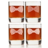 Bowties Collection Shot Glass (Set of 4)