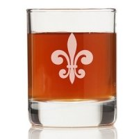 Fleur de Lis Glass Shot Glass (Set of 4)