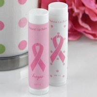 Pink Ribbon Lip Balm Favors