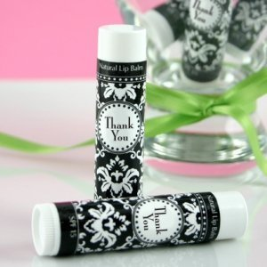 Damask and Dots Thank You Lip Balm Favors image