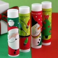 Holiday Design Lip Balm Favors