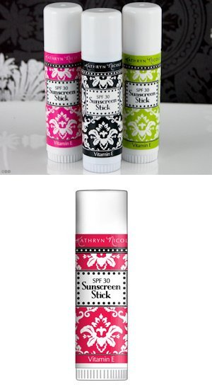 Damask Design Sunscreen Stick Favors - 4 Colors image