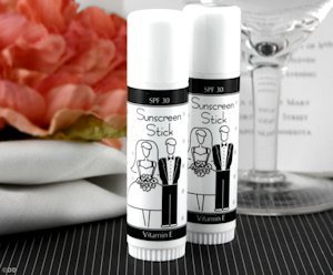 Bride and Groom Sunscreen Stick Favors image