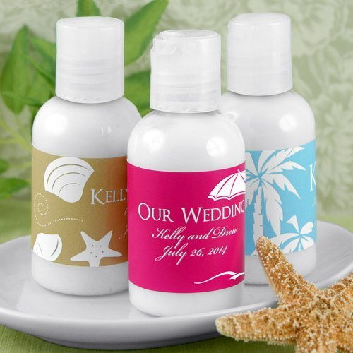 Beach Wedding Favors: Personalized Hand Lotion Beach Wedding Favors