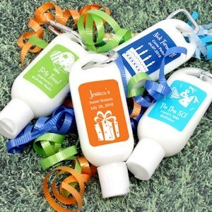 Personalized Sunscreen Birthday Party Favors image