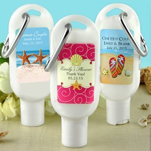 Travel Personalized Sunscreen Favors (Many Designs) image