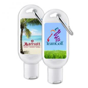 Custom Corporate Hand Sanitizer with Carabiner image