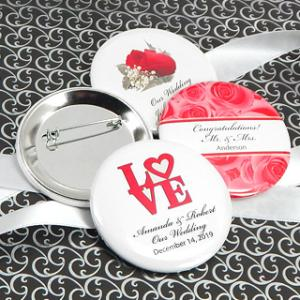 Personalized Wedding Buttons (2.25in) image