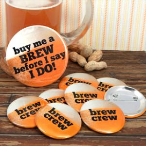 Brew Crew Buttons (Set of 12- plus 1 Free) image