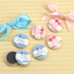 Baby Shower Personalized Magnets (1-in) image