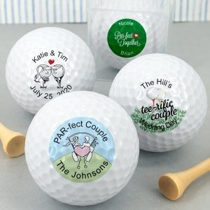 Golf Themed Personalized Golf Balls image
