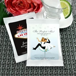 Las Vegas Personalized Margarita Mix Wedding Favors image