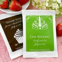 Personalized Silhouettes Strawberry Daiquiri Mix Favors