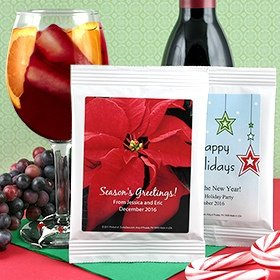 Personalized Holiday Sangria Party Favors - Many Designs image