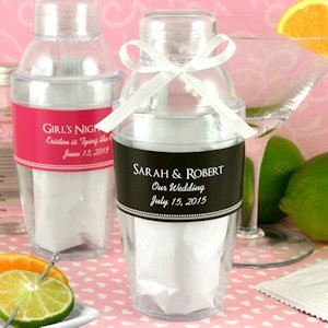 Cocktail Shaker Favor with Cosmopolitan Mix image