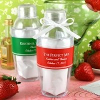 Personalized Cocktail Shaker with Strawberry Daiquiri Mix