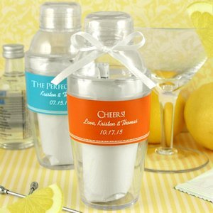 Personalized Cocktail Shaker with Lemon Drop Mix image