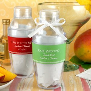 Personalized Cocktail Shaker with Mango Margarita Mix image