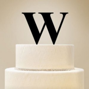 Personalized Single Initial Cake Topper image