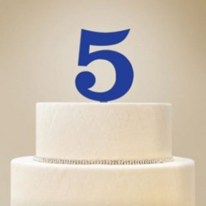 Personalized Number Cake Topper image