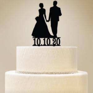 Personalized Bride & Groom Cake Topper image