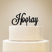 Personalized Script Text Cake Topper image