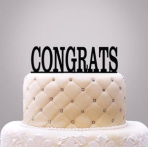 Personalized Classic Text Cake Topper image