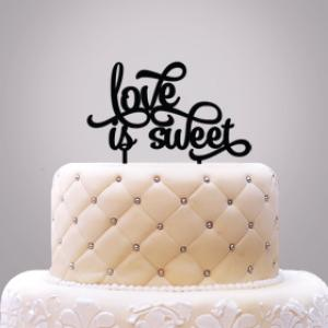 Love Is Sweet Cake Topper image