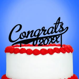 Congrats With Year Cake Topper image