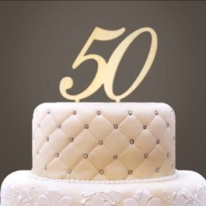 Personalized Wooden Number Cake Topper image