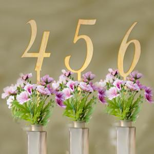 Wood Table Numbers (Set of 6) image