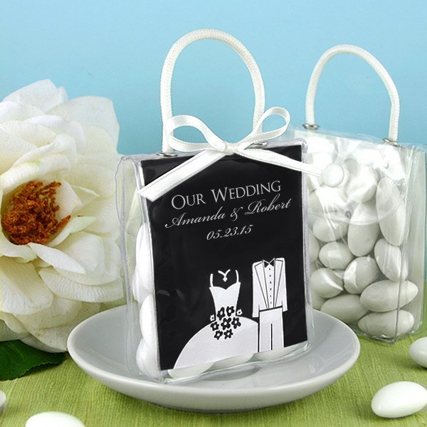 Wedding Favors Unlimited: Personalized Silhouette Mini Gift Favor Totes
