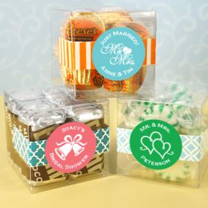 Personalized Clear Favor Boxes (2 x 2 x 2 inches) image