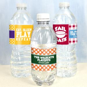 Water Bottle Labels - Sports Themed (Set of 5) image