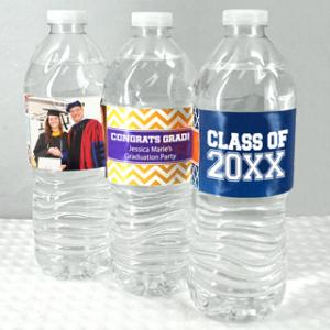 Graduation Water Bottle Labels (Set of 5) image