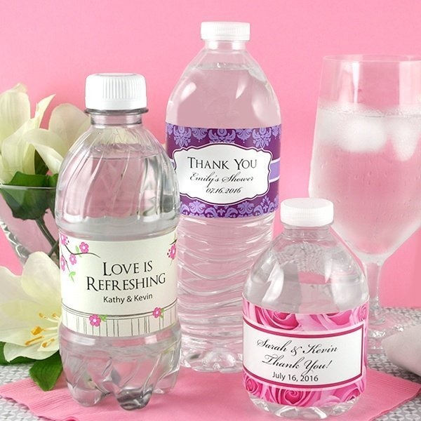 Personalized Wedding Water Bottle Labels Set Of 5