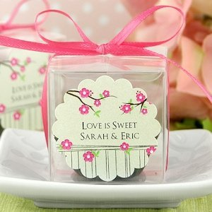 Scalloped Personalized Stickers for Wedding Favors (30 Pack) image