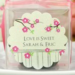 Scalloped Personalized Stickers for Wedding Favors (30 Pack)