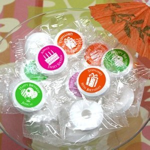 Birthday Silhouette Personalized Life Savers Mint Favors image