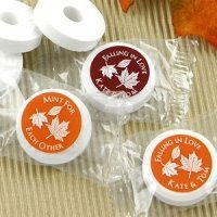 Autumn Silhouette Life Savers Mint Favors