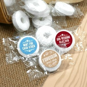 Rustic Silhouette Personalized Life Savers Mint Favors image