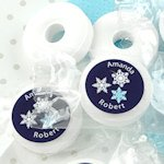 Winter Design Life Savers Mint Favors