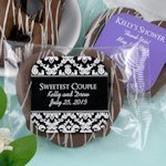 Personalized Chocolate Pretzel Edible Wedding Favors