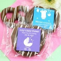 Baby Shower Edible Chocolate Pretzel Favors