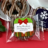 Holiday Gourmet Chocolate Pretzel Favors (Many Designs)