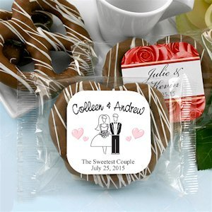 Gourmet Wedding Chocolate Pretzel Favors (Many Designs) image