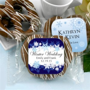 Winter Theme Gourmet Chocolate Pretzel Favors image