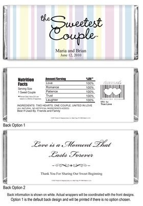 The Sweetest Couple -Pastel Striped Wrapper image